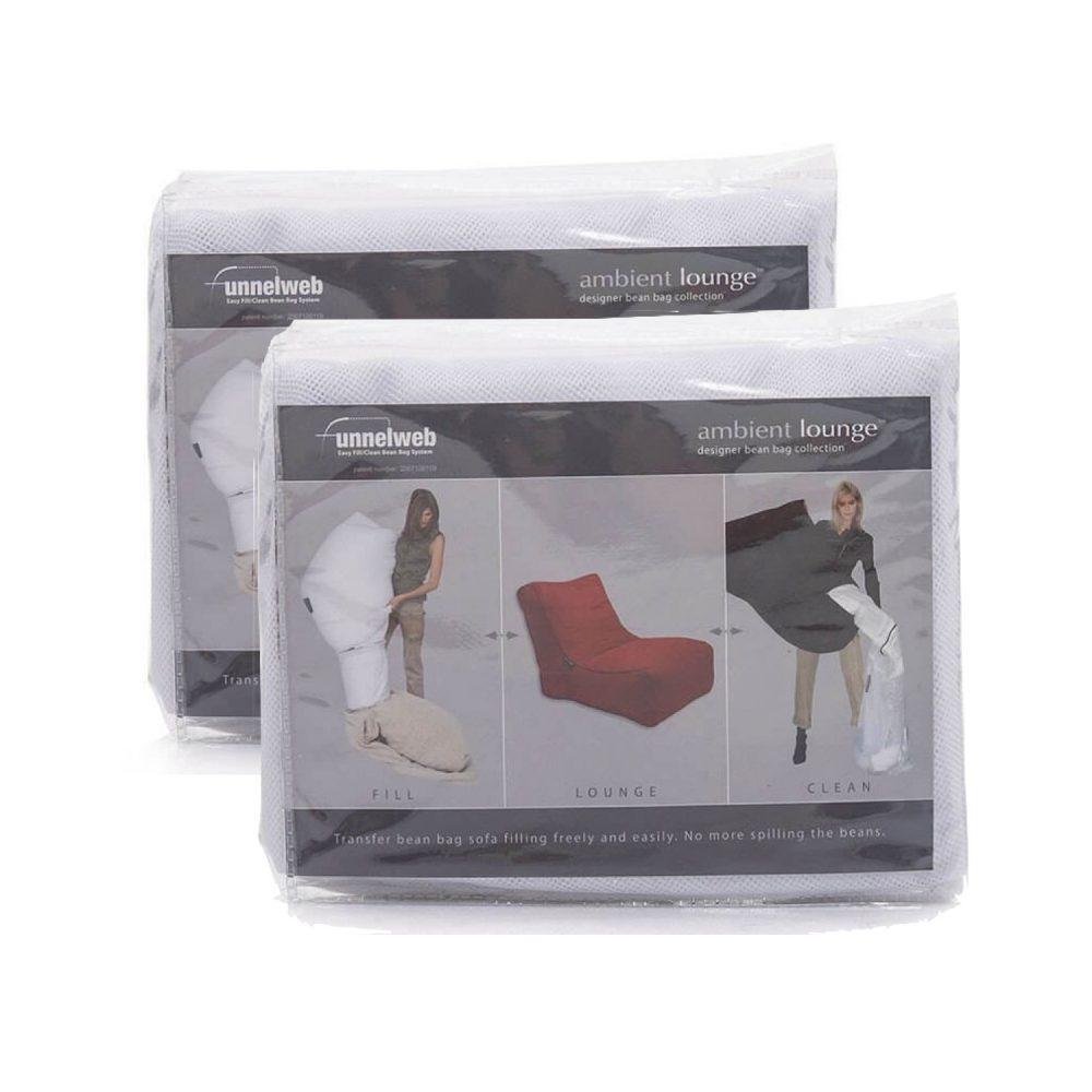 ソファをクリーニングする際、中のビーズを詰め替えるためのメッシュバッグ二組セット